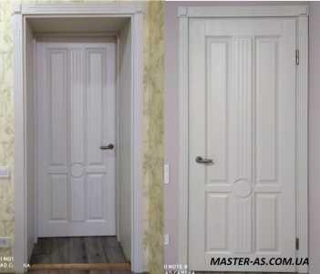 ДВ-35 белые филенчатые деревянные двери