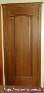 Дверь деревянная межкомнатная эконом класса из массива ясеня