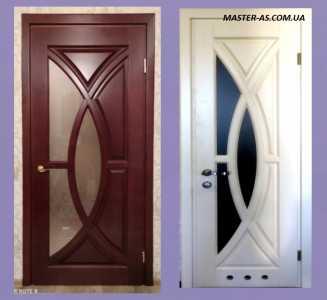 Межкомнатные двери с радиусным остеклением МД-143