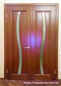 MD-100 Двойная межкомнатная деревянная дверь