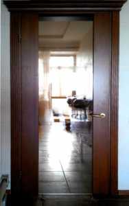 MD-123 Межкомнатная деревянная дверь (ольха), комбинированная