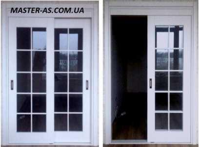 Раздвижная деревянная межкомнатная дверь МД-141