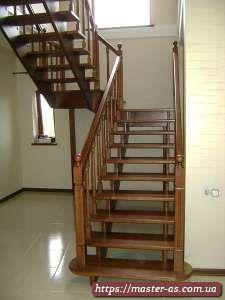 Маршевая деревянная лестница: ступени Дл-02
