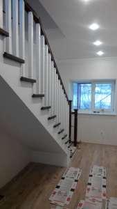 Дл-2 Деревянная маршевая лестница