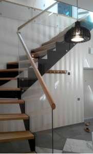 Маршевая деревянная лестница для частного дома МЛ-4