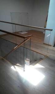 Комбинированная деревянная лестница МЛ-4