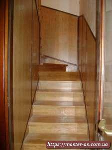 Установка деревянных маршевых лестниц