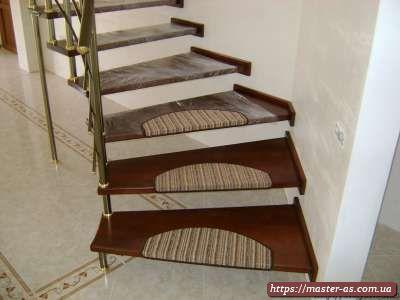 Элементы деревянных лестниц – ступени из массива