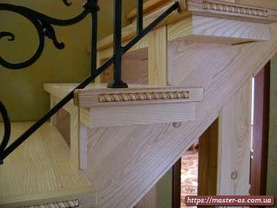 Изделия из натурального дерева: деревянные ступени