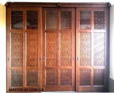 Деревянный шкаф встроенный для прихожей Мп-4