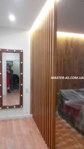 Деревянная перегородка для комнаты