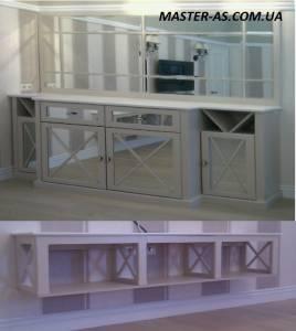 Тумбочка с зеркалом для прихожей, ванной, спальни МП-26