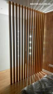 Перегородка из дерева для комнаты