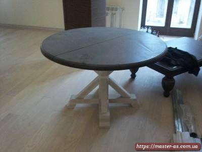 Круглый кухонный раскладной стол