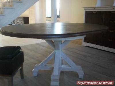 Обеденный деревянный стол для гостиной
