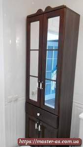 Шкаф деревянный для полотенец в ванную комнату
