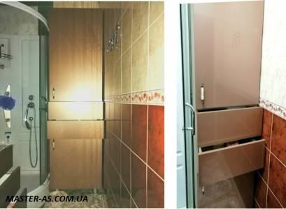 Мебель для ванной комнаты: тумба под мойку и пенал ТК-18