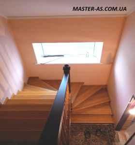Лестница деревянная межэтажная ЛМ-01