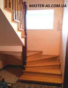 Лестница межэтажная деревянная ЛМ-01