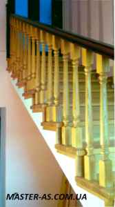 Балясины деревянной лестницы в Одессе Мл-01