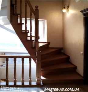 Купить деревянную лестницу в Одессе ДЛ-12