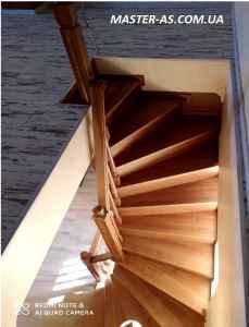 Заказать деревянную лестницу в Одессе ДЛ-12