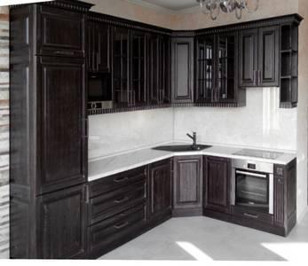Фото мебели для кухни из массива дерева