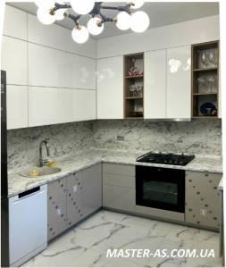 Кухня фасад из стеклоламината заказать Одесса КМ-16