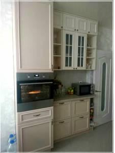 Кухня деревянная (ясень) белая КМ-07