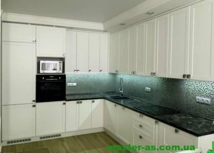Кухня деревянная белая Мастер-Ас Одесса