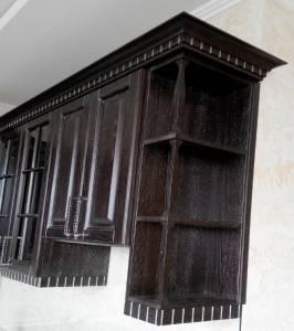 Навесные шкафы мебели из дерева для кухни