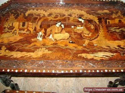 Реставрация рисунков и резьбы по дереву