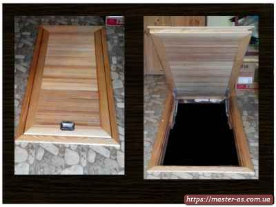 Люк деревянный для спуска в подвальное помещение.
